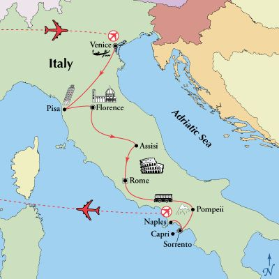 $1,999: 11-Day Venice Florence Rome Sorrento Tour – Friday Departure - Italian Tourism Italy Tours and Italy Vacations