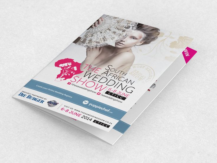 Exhibitor Map and Listings Booklet design for The South African Wedding Show by Pink Pigeon Graphic Design © www.pinkpigeon.co.za