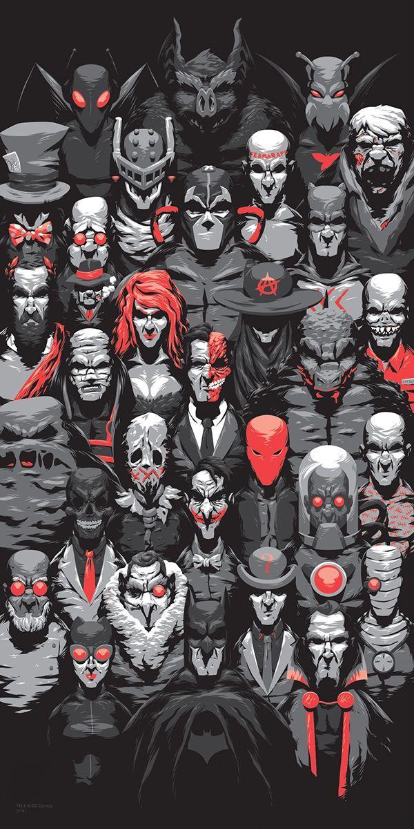 The Batman Villains by Florey at 8 Bit Nerds We have 100's of Comics pictures!
