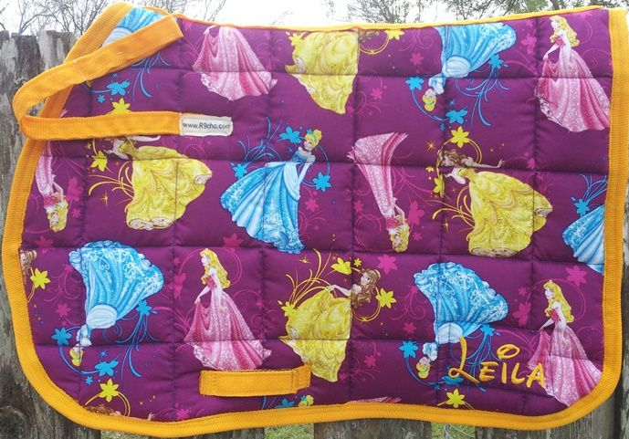 Disney Princess Olympic Saddle Pad Custom Saddle Pads
