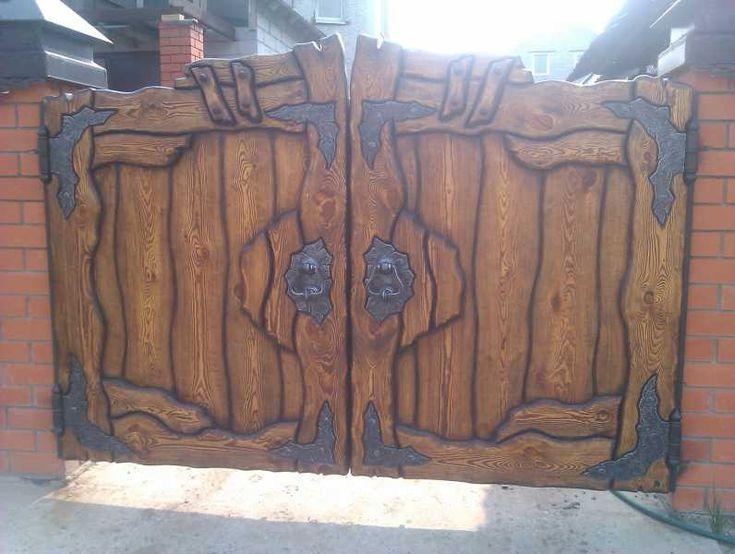 Объявление. г. Тюмень, Деревянные ворота с элиментами ковки. Фото 1