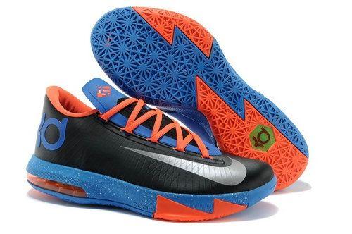 Find Nike Kevin Durant KD 6 VI \u201cOKC Away\u201d Black/Metallic Silver-Team  Orange-Photo Blue For Sale Cheap To Buy online or in Pumarihanna.