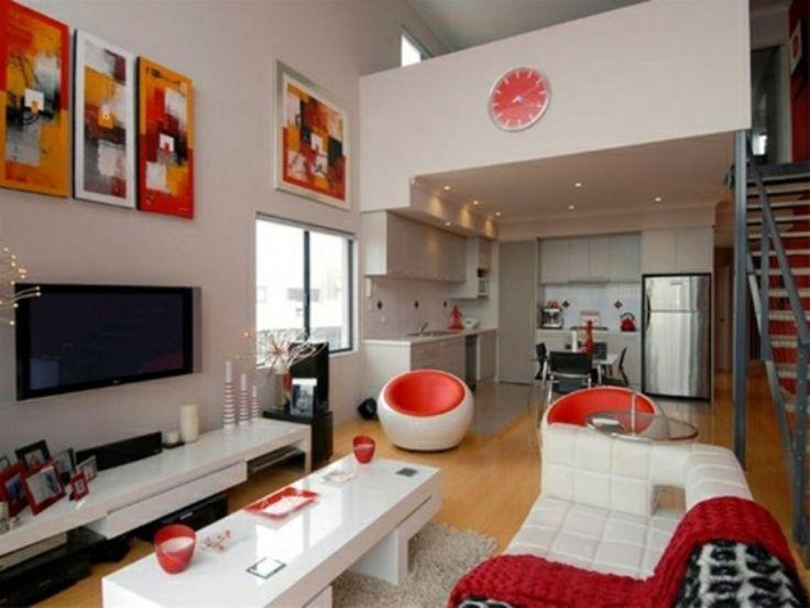 17 Best Ideas About Dekoideen Wohnzimmer On Pinterest | Dekoration ... Wohnzimmerwand Rot