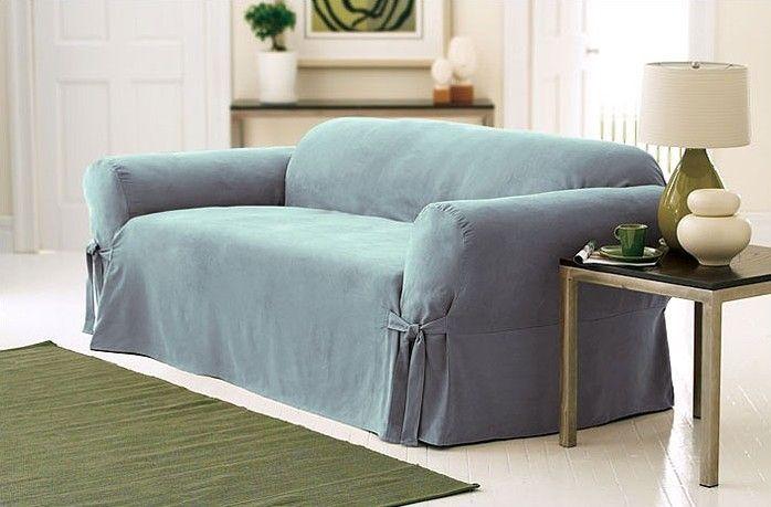Soft Suede Sofa Slipcover