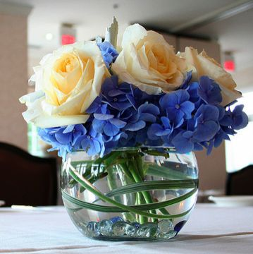 Find This Pin And More On Paula S Wedding Cornflower Blue Centerpieces