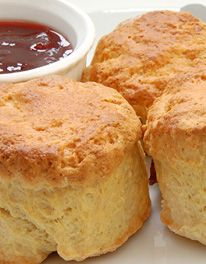 Devonshire Scones With Self Rising Flour, Baking Powder, Butter, Caster Sugar, Eggs, Milk