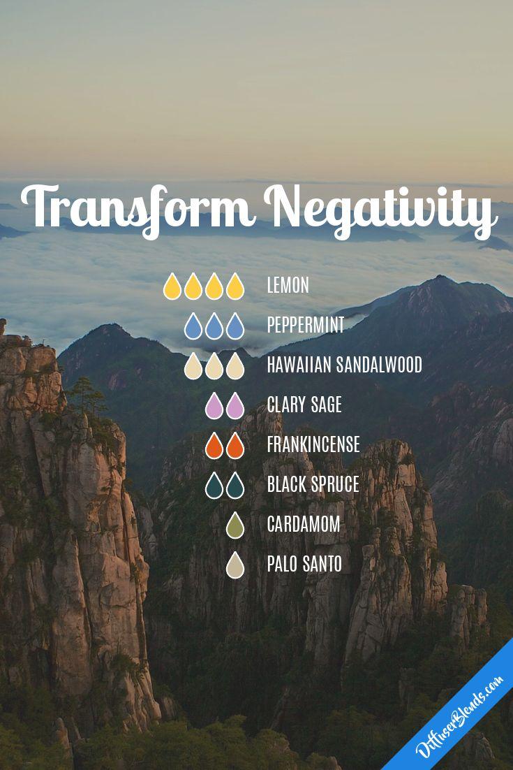 Transform Negativity diffuser blend