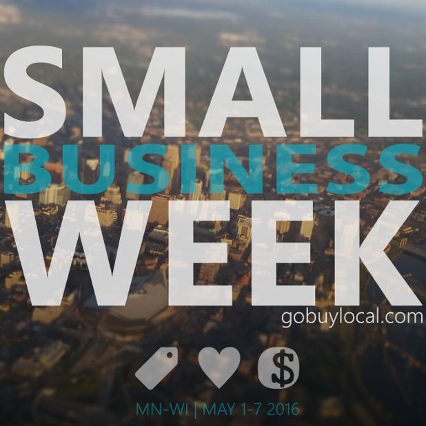 Happy #smallbusiness week! Find #deals from hundreds of #MN and #WI #businesses & we #giveback when you #shopsmall!