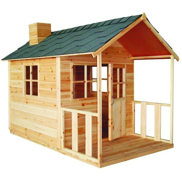 Outdoor Wooden Cubby Playhouse $299 what a great bunny house- plexiglas windows insulation and heat lamps, attach to outdoor run