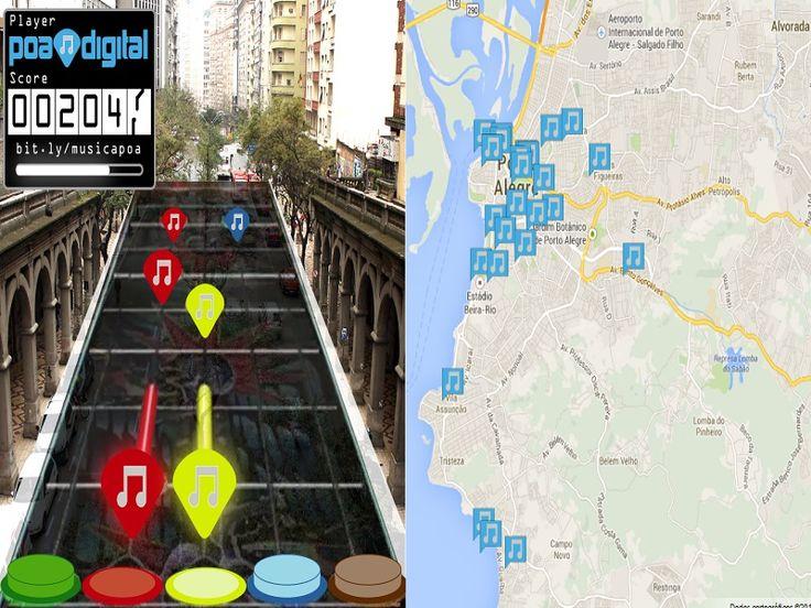 A plataforma oficial de comunicação online de Porto Alegre, #POAdigital, acaba de lançar uma ação que preenche o mapa da cidade com músicas.
