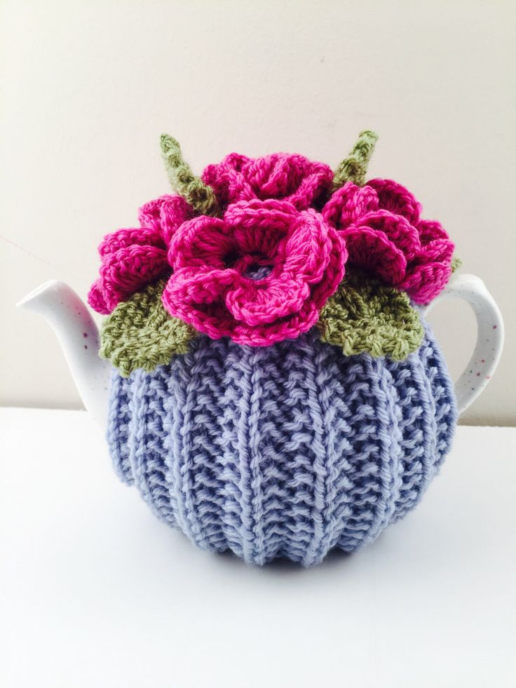 A personal favourite from my Etsy shop https://www.etsy.com/uk/listing/511583395/hand-knitted-floral-tea-cosy-in-pure
