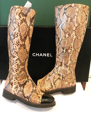 Chanel Python Womens Boots