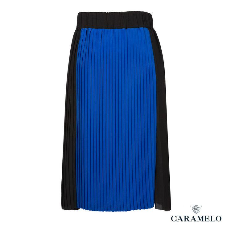 Falda Plisada Bicolor de de la Colección Femenina de Caramelo