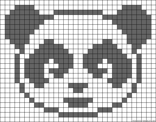 panda perler bead patterns - Google Search