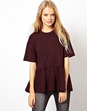 ASOS Oversized Peplum T-Shirt