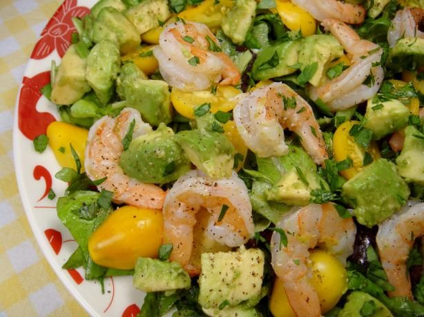 avocado and red pepper salad garlic black pepper shrimp avocado salad ...