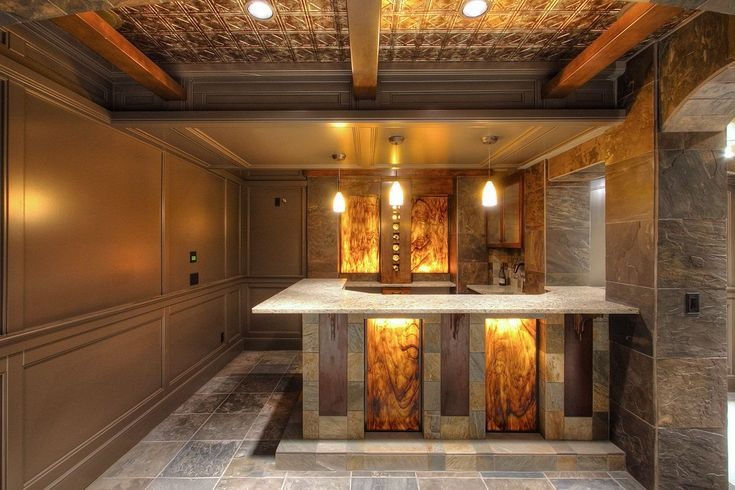 Basement Improvement Ideas stunning-basement-home-bar-with-luxury-ceiling-and-floor-design