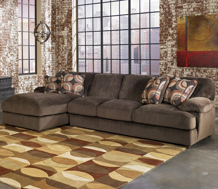 Signature Design By Ashley Truscotti   Cafe Contemporary Sectional With  Sofa And Left Chaise   Becker Furniture World   Sofa Sectional Twin Cities,  ...