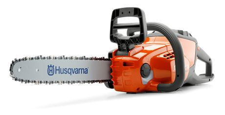 HUSQVARNA 120i Lightweight, easy to use battery chainsaw ideal for felling small trees and pruning or cutting small branches. Features an intuitive keypad for safe, convenient starting, while the inertia chain brake ensures trouble-free handling. Brushless motor with savE™ mode for reliable performance and longer running time, no direct emissions, while low noise levels allow you to work in residential areas without disturbing the neighbours.