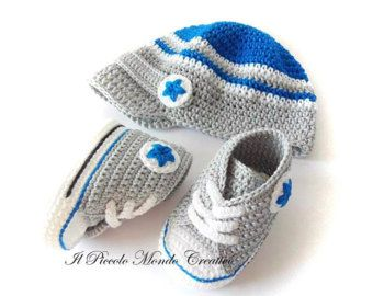 Baby Set Crochet Baby Set All Star Baby Hat Baby Sneakers