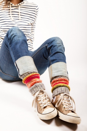 Leg Warmers With Warm Tone #DIY #knitting