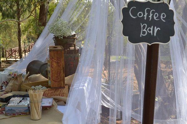 Coffee Bar wedding decor