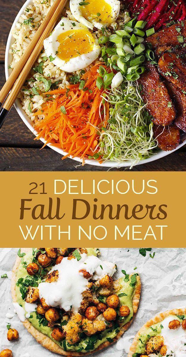 21 Leckere fleischlose Abendessen für den Herbst – # Abendessen #die #Milch …