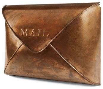 Too cool!  Copper Envelope Wall Mailbox - Grandin Road traditional mailboxes