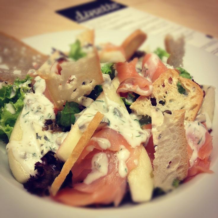 salmon and pear salad