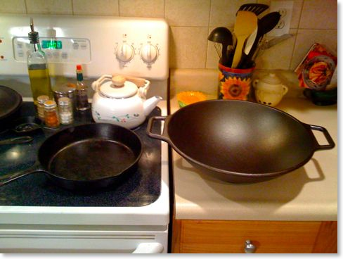 how to clean a new wok