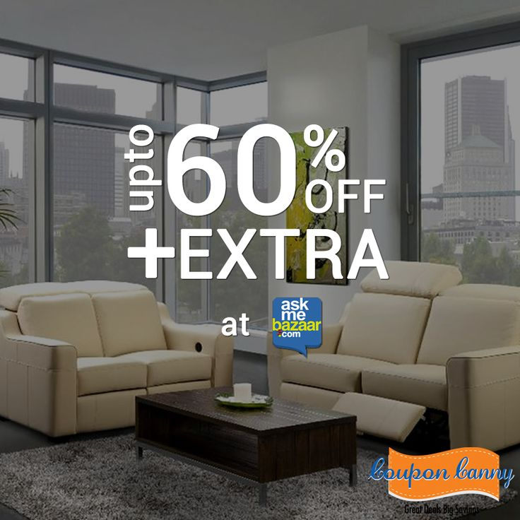 Upto 60% Off + Extra 50% Off on Top #Brands Of Furnishings at #Askmebazaar! Find the #coupons here: http://www.couponcanny.in/askmebazaar-coupons/