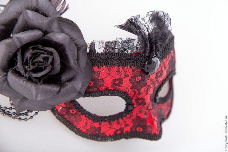 """Купить Карнавальная маска """" Кармелита"""" - черный, карнавальная маска, маска, венеция, венецианская маска"""