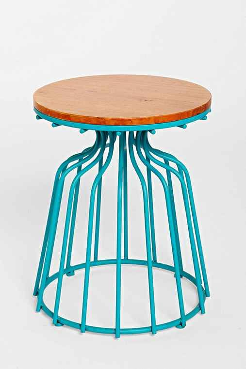 Wooden Top Side Table - Urban Outfitters