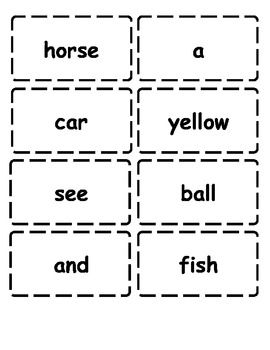Edmark Level 1 Word Wall Cards - Teaching in a Spedtacular World - TeachersPayTeachers.com