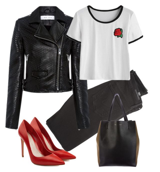 """rose"" by nori-nagy on Polyvore featuring Citizens of Humanity, IRO, Alexander McQueen and CÉLINE"