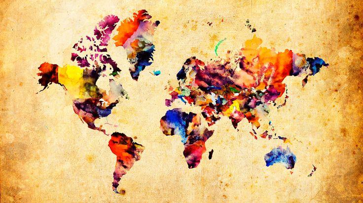 Παγκόσμιος χάρτης υδατογραφία http://www.printcenter.com.gr/maps.html
