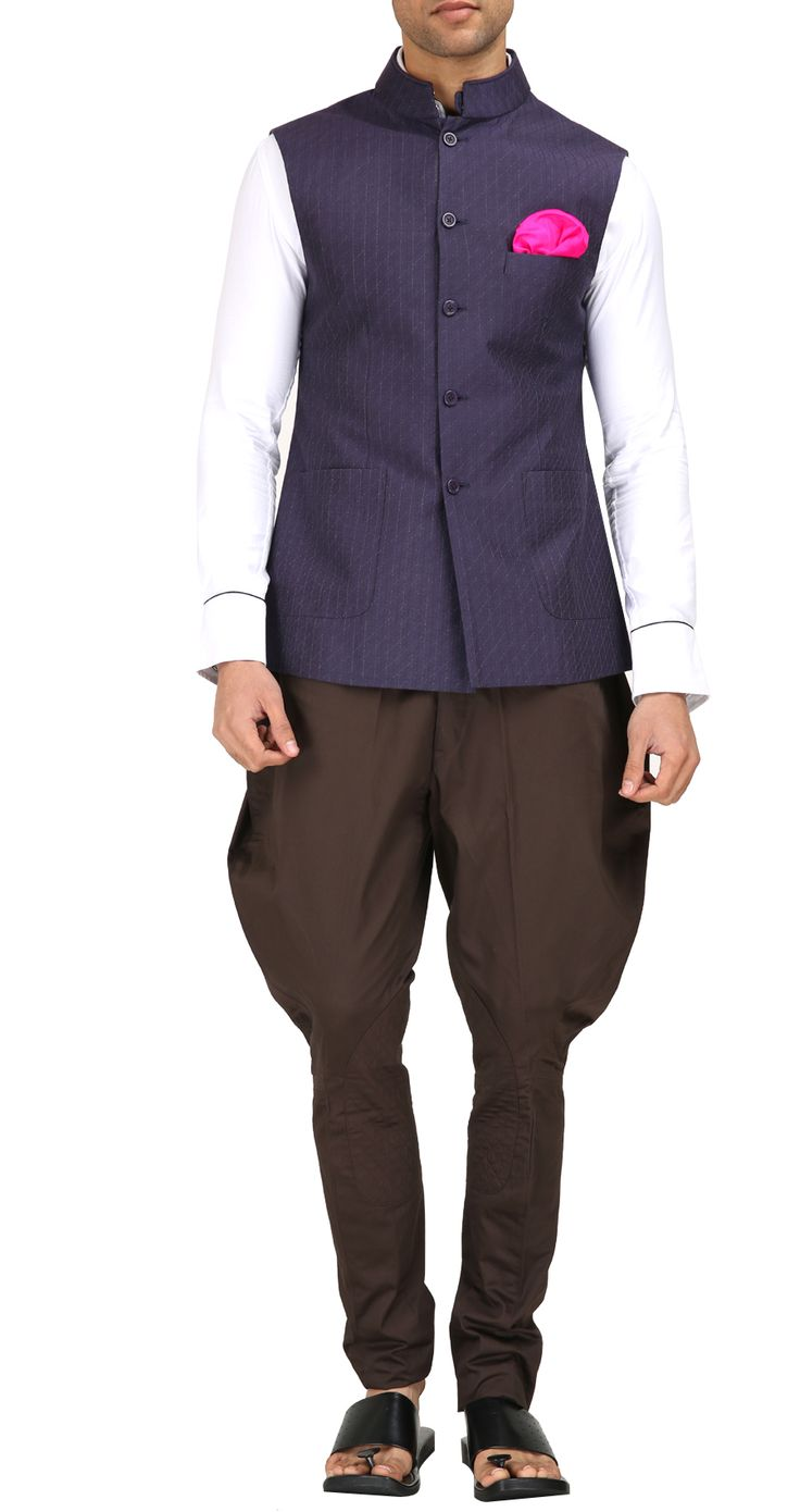 Brown cotton breeches by RAGHAVENDRA RATHORE. Shop at https://www.perniaspopupshop.com/mens-shop/raghavendra-rathore-3982