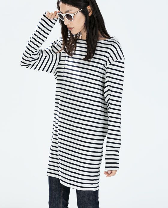 STRIPED LONG-SLEEVED DRESS