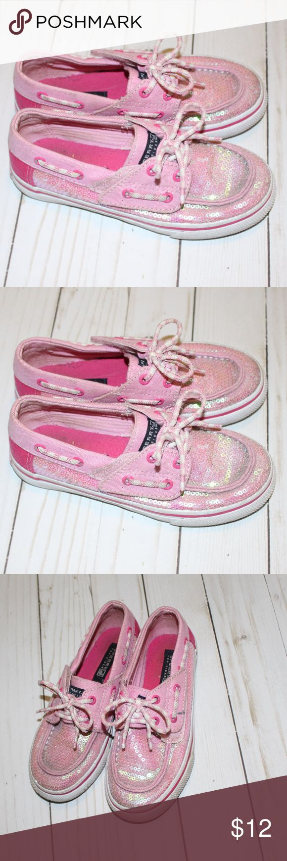 Pink Girl Sperry's Top-Sider Size 11 Pink girls Sperry's size 11 excellent condition comes from a smoke free and pet free home. Sperry Shoes Sneakers