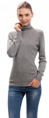 Amazon.co.jp: レディース タートルネックセーター ライトグレー Citizen Cashmere シチズンカシミア: 服&ファッション小物