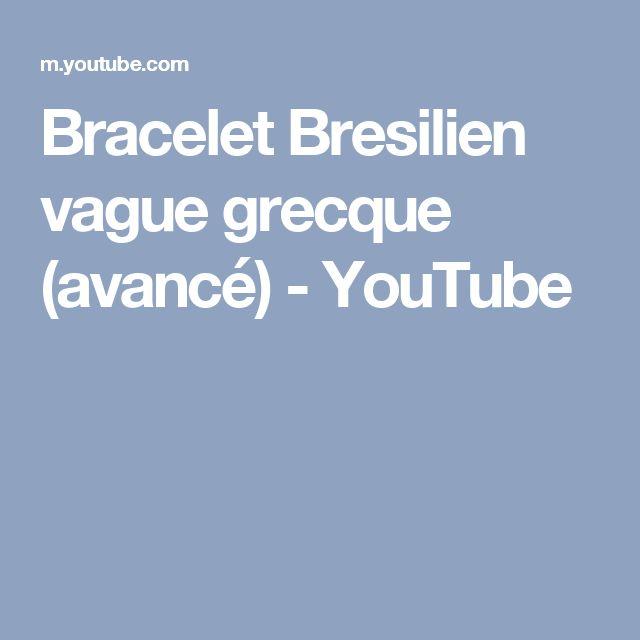 Bracelet Bresilien vague grecque (avancé) - YouTube