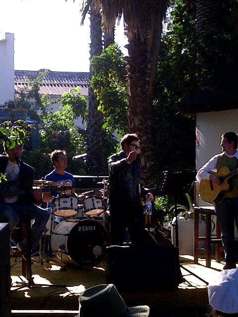 The band at Van Loveren for #WackyWine @AndrePentz