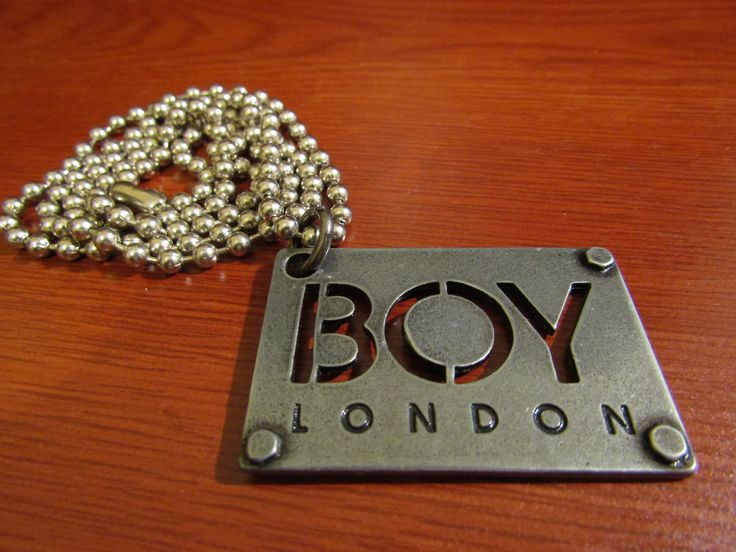 "BOY London Dog tag ""BOY"" logo necklace"