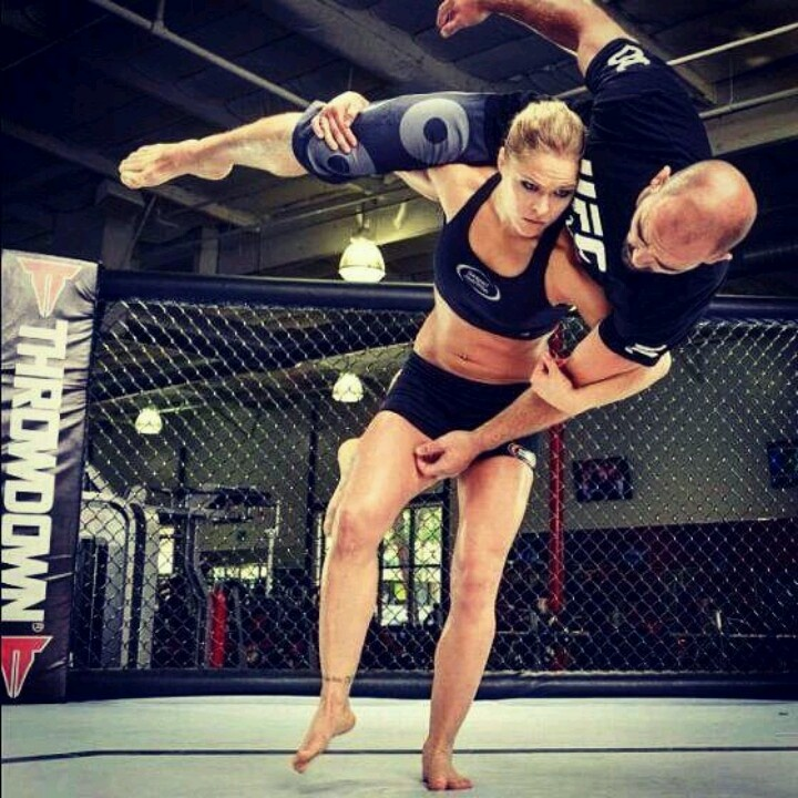 Ronda Rousey. #1 Female MMA Fighter! How can you not love her hard work and dedication?! D: