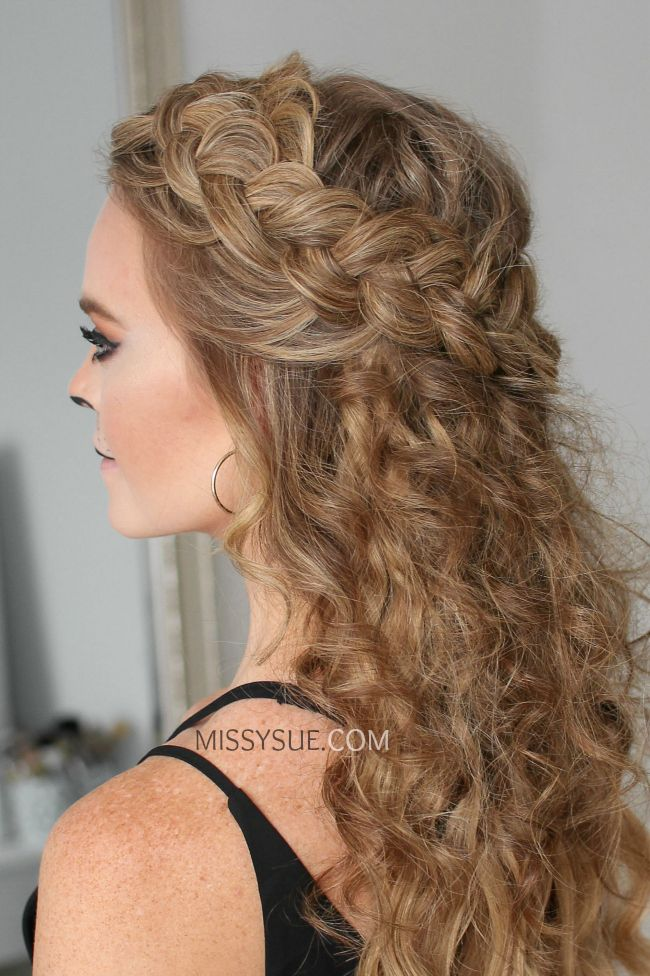 Lioness Half Up Crown Braid Braided Crown Hairstyles