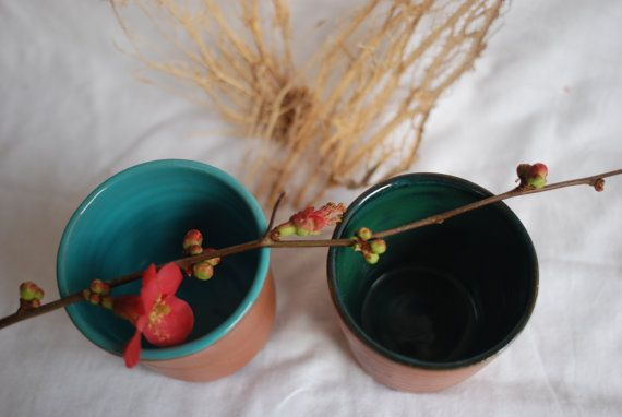 Mount Ida Series: Sea Mug by aliveobjects on Etsy Mount Ida Series: Trees Mug by aliveobjects on Etsy Rustic handmade ceramics cup. #ceramics #mug #cup #handmade #unique #rustic #seatheme #seamug #sea #ocean #blue #green #coffemug #cup #claymug #clay #porcelain #handmademug