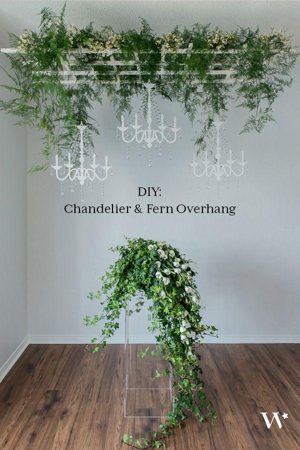 DIY Wedding Wednesday: Pretty Wild – A Chandelier & Fern Overhang - The Details - Weddingstar Blog