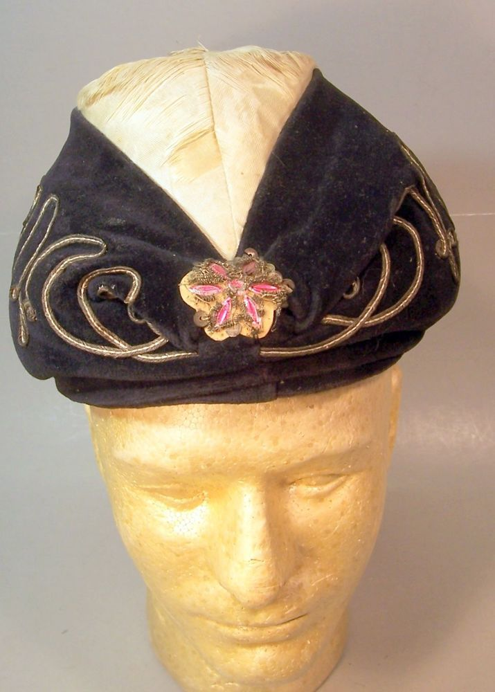 Vintage Headpiece--Looks like a Swami's Hat--Odd Fellows? #Warden