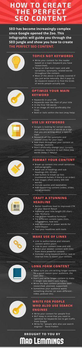 How to Create the Perfect SEO Content   #marketing #digitalmarketing #inboundmarketing #smm #searchmarketing #conversion #bloggingcampaign #growthhacking #mpgvip #smallbiz #strategy #smarketing #optimization #defstar5 #makeyourownlane #seo www.sanguinesolutions.net #ROI #Market #SEOScore