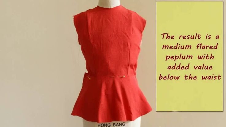 Patternmaking Tutorial : how to draw a Peplum
